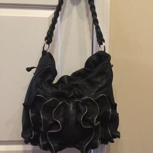 Susan Farber Collection Hastings Zip Ruffle Hobo